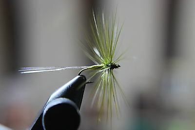 olive spinner trout flies x10