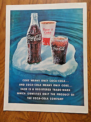 1960 Coke Coca-Cola Soda Pop Ad  Coke means only Coca-Cola