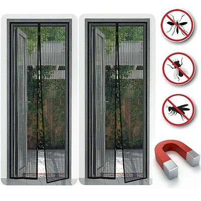 2032 2 x Insect protection Magnet Fly screen Mosquito repellent Curtain Caravan