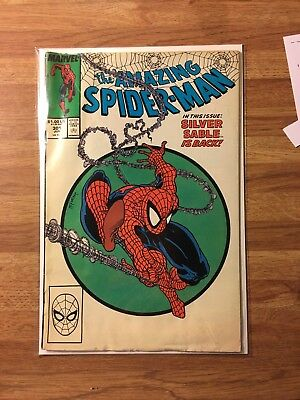 Amazing SpiderMan (1963 1st Series) 301 VG Todd Mcfarlene Silver Sable KEY COMIC