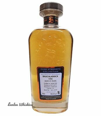 1990 Signatory Vintage Bruichladdich 25YO Cask Strength Single Malt Whisky