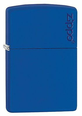 Zippo Royal Blue Matte Logo Pocket Lighter