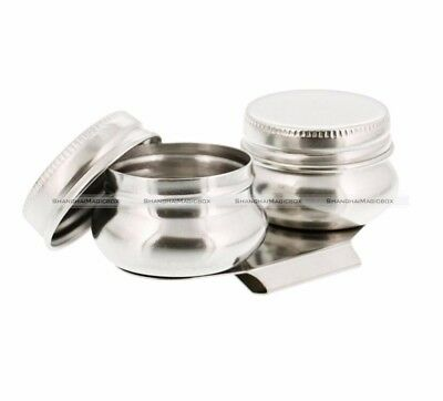 Stainless Steel Large Mouth Double Dipper Pallete Cup Art Supplies S8