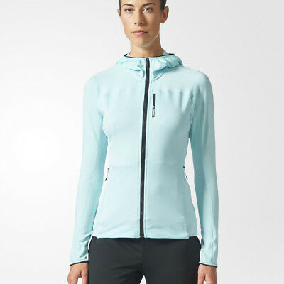 Adidas Terrex Tracerocker Womens Blue Long Sleeve Hoody Hooded Jacket Top