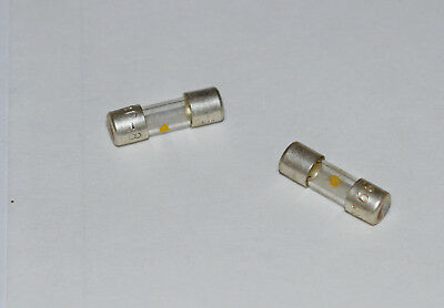 FUSE LINK SIZE 00 GLASS 500mA 5/8 INCH BY 3/16 INCH - 2 PIECES