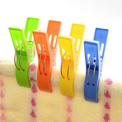 4x Jumbo Pegs Big Clothes Pins Heavy Duty Clips Plastic Laundry Hanger Hanging