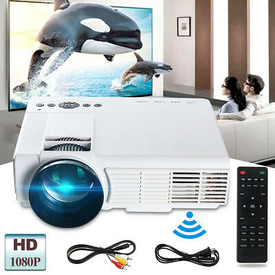 WIFI 3000 LM Portable HD 1080P 3D Multimedia Projector LED Home Theater HDMI USB