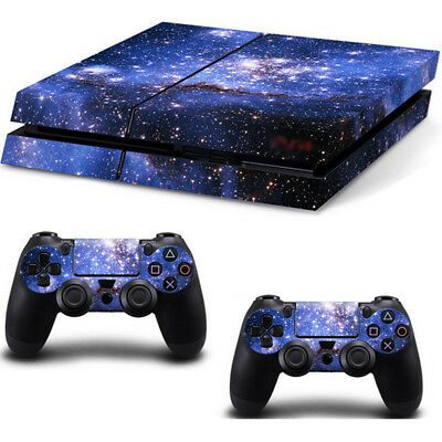 Galaxy Deep Space Skin Sticker Cover For PS4 Playstation 4 Console + Controller