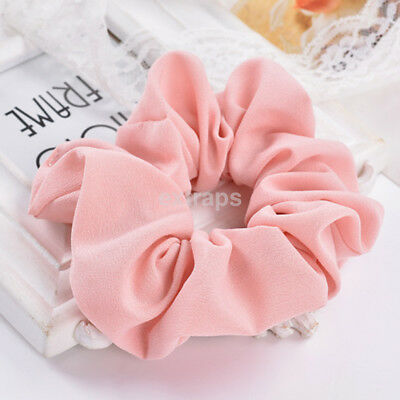 Popular Lady Girls Ponytail Women Ties Elastic Bands Hair Scrunchies Pure Color