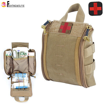Tactical Molle First Aid Kit 1000D Bag Survival Medical Treatment Pouch Waist