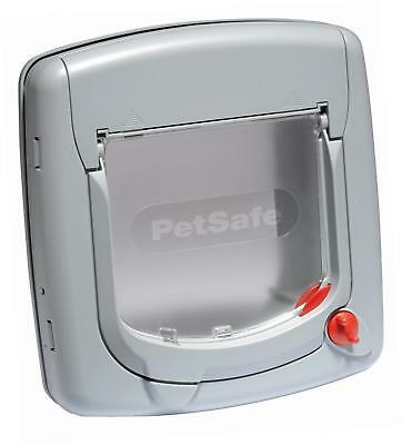 PetSafe Staywell Deluxe Manual 4-Way Locking Cat Flap - Grey