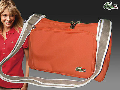 New Authentic LACOSTE Accross the body Shoulder Bag Casual 2.16 Khaki Brown