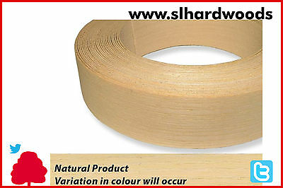 Real Wood Veneer Iron on Edging Tape Pre Glued Ash 22mm x 50mtr