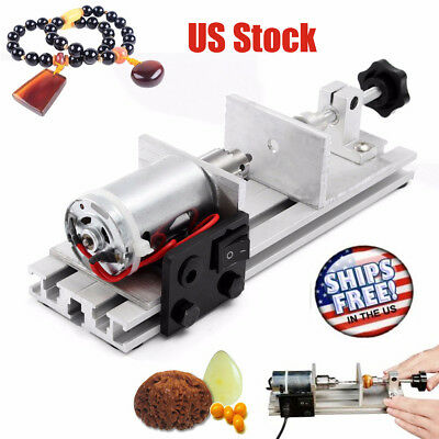 Pearl Drilling Holing Machine Beads Driller Jewelry Punch Maker W/ US DC Adapter