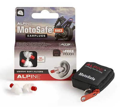Motorcycle Earplugs Reusable Hearing Protection Alpine Motosafe Race
