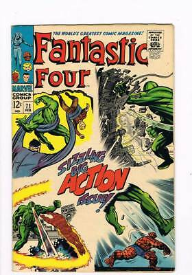 Fantastic Four # 71 And So It Ends... ! Kirby grade 6.5 scarce book !!