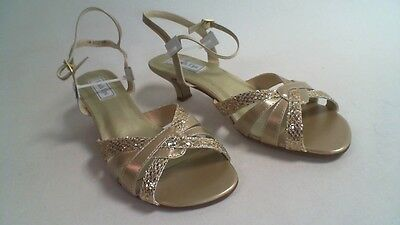 Touch Ups Wedding/Evening Shoes - Champagne Gold  - Jane - US 9W UK 7 #22D445