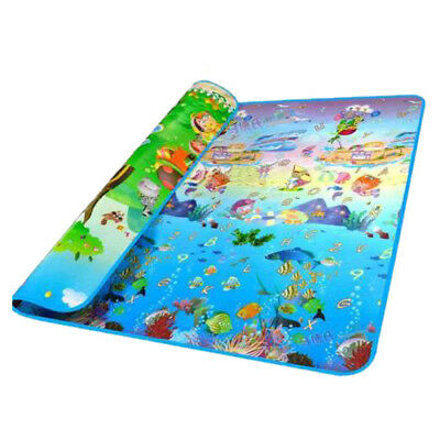 baby ocean Double-sided pattern Crawling mat E8T5