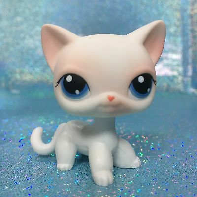 Littlest Pet Shop LPS Figure Toys #64 White Short Hair Kitty Cat