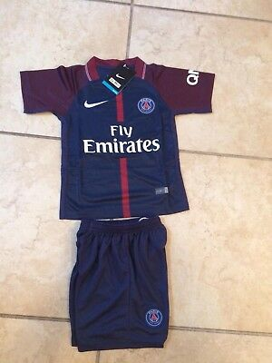 Youth Kids Soccer Jersey and Shorts Kit PSG Munich Madrid United City Away Home
