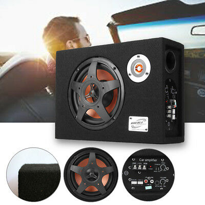 "8"" Inch 480W 12V Under-Seat Ultra-Thin Car Audio Subwoofer Bass Modified Speaker"