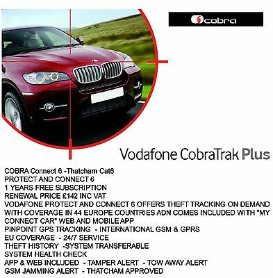 Cobra Vodafone Connect 6 - THATCHAM CAT6 Diebstahl tracking on Demand EU