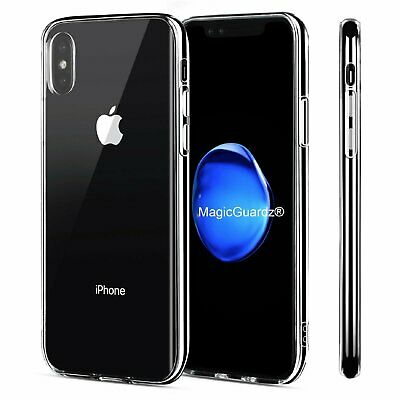For Apple iPhone X XS Shockproof  Clear Soft TPU Rubber Silicone Case Cover