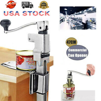 Kitchen Commercial Catering Heavy Duty Bench Clamp Mount Tin Can Opener Cookwear