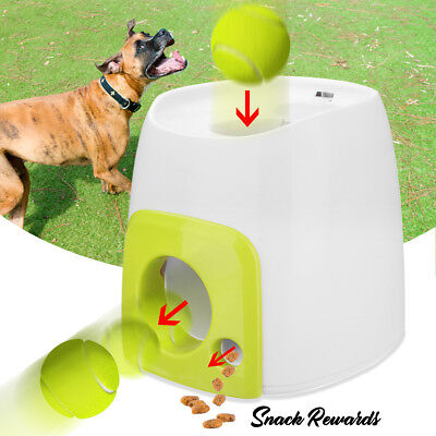 ☆ Automatic Pet Dog Launcher Tennis Ball Toy Fetch Thrower Throw Up Hyper Game