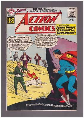 Action Comics # 287 Perry White's Manhunt for Superman ! grade 3.5 scarce !!