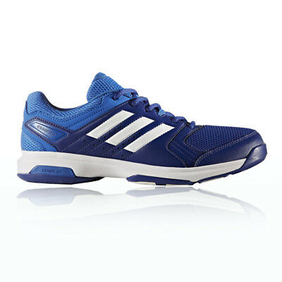 Adidas Essence Mens Blue Handball Indoor Court Sports Shoes Trainers Pumps