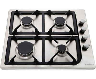 Hoover HGL64SCX Built In 58cm 4 Burners Gas Hob Stainless Steel New from AO