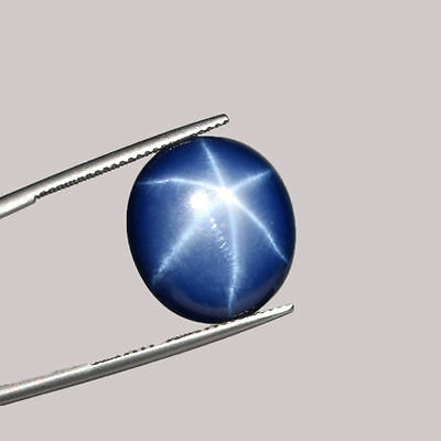 4.5 Ct Certified Thailand 6 Rays OVAL Cabochon Star sapphire Loose Gems #G-517