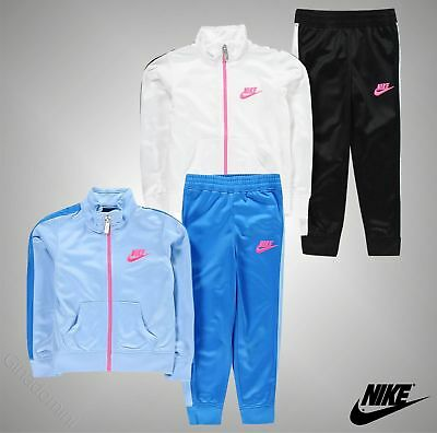 Infant Girls Genuine Nike 2 Pieces Tricot Tracksuit Jacket Bottoms Size Age 7-13