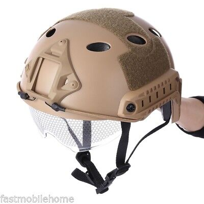 Military Crashworthy Protective Tactical Helmet for CS Airsoft Paintball Game AU