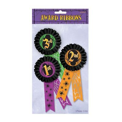 Halloween Award Ribbons Party Games 1st 2nd 3rd Place Winner Prize Gift 3PK