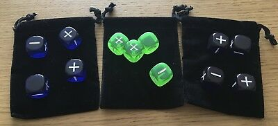 Fudge Dice - Fate Dice (12 dice) + Three Dice Bags + Free postage