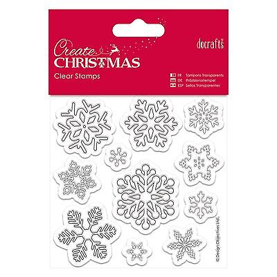 SNOWFLAKES Clear Stamp Set - Create Christmas Collection from Docrafts