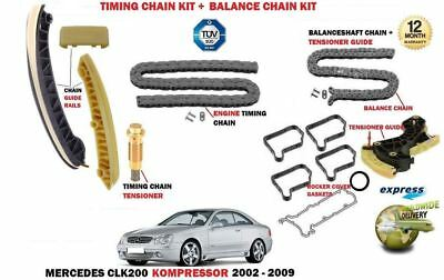 For Mercedes Clk200 C209 A209 2002-2009 Timing Cam Chain Kit + Balance Shaft Kit