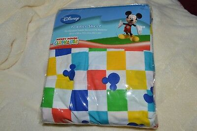 Disney Mickey Mouse Clubhouse Fitted Crib/ Toddler Bed Sheet Brand New Free Ship