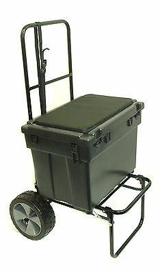 Folding Fishing Seatbox Trolley Complete With Team Seatbox
