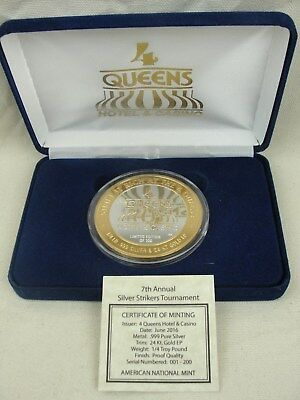 2016 4 Queens Silver Strikers Tournament 7Th Anniversary 1/4 Troy Lb .999/24K GP