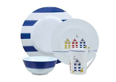 Royal 029503 Seashore Dining Set 16 Pieces Side Plate Bowl Cup Melamine Camping