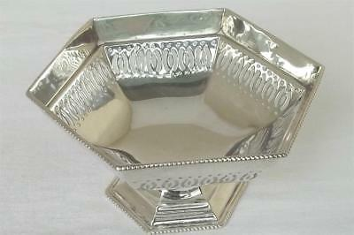 A Lovely Solid Sterling Silver Footed Sweet, Candy, Bon Bon Dish Sheffield 1928.