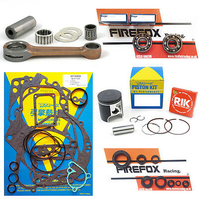 Kawasaki KX250 1993 - 2001 Engine Rebuild Kit Inc Rod Gaskets Piston Seals (D)
