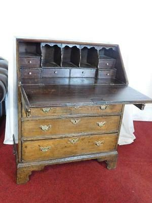 A GOOD SMALL 30ins ANTIQUE COUNTRY OAK WRITING BUREAU DESK