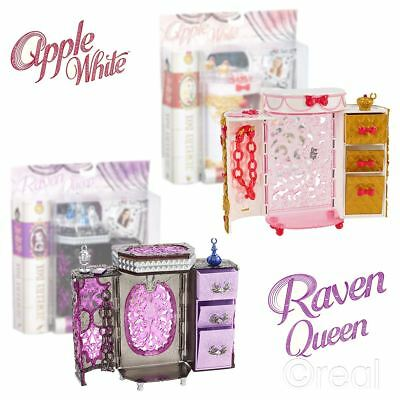 New Ever After High Apple White or Raven Queen Jewelery Box Vanity Case Official