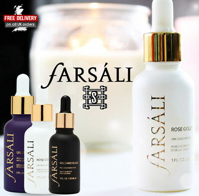 FARSALI Unicorn Essence , Volcanic Elixir & Rose Gold Elixir Full Size & Sample