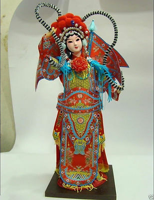 Oriental Broider Doll,Chinese Old style figurine doll girl statue MuGuiYING