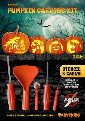 Stencil & Carve Pumpkin Carving Kit (NEW for 2017)